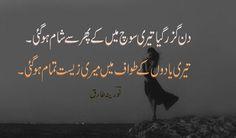 poetry urdu poetry din guzar gaya by noreena tariq