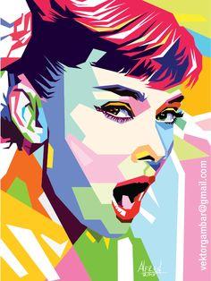Audrey-Hepburn-wpap-Vector.png (550×733)