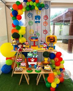 ideas for all types of festivities - Birthday FM : Home of Birtday Inspirations, Wishes, DIY, Music & Ideas Twin Birthday, Birthday Table, Birthday Parties, Theme Parties, Paw Patrol Cake, Paw Patrol Party, Birthday Decorations, Baby Shower Decorations, Henri 3