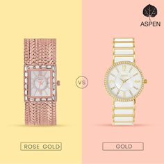 Some choices are never easy… Isn't it? #aspen #watch #woman #white #rosegold #gold