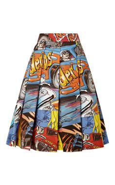 Printed Cotton Pleated Skirt by J.w. Anderson
