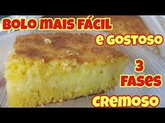 BOLO ULTRA CREMOSO NO LIQUIDIFICADOR - RAPIDÃO - FUBÁ - YouTube Coffee Break, Coco, French Toast, Food And Drink, Breakfast, Banana, Desserts, Youtube, Videos