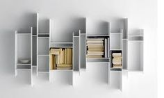 RANDOMITO by Neuland Industriedesign - Modular bookcase / wall-mounted / contemporary / commercial by MDF Italia Hanging Bookshelves, Bookcase Shelves, Storage Shelves, Wall Shelves, Bookcases, Modern Bookcase, Shop Storage, Book Shelves, Storage Ideas