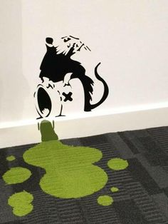 Interesting artwork of paint spilling onto carpet tile. What is the most unusual photo you've got using Interface carpet tiles?