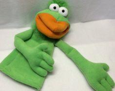 Steve - Little Green Birdy Hand Puppet (moving mouth)