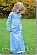 Sew a dress up princess gown in 15 minutes with this easy tutorial! Perfect for Halloween and pretend play!  15-minute Cinderella Gown (Learning Laboratory: How to Be a Fairy Godmother)