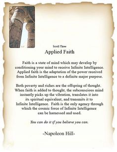 Scroll 3 - Applied Faith  - You can do it if you believe you can