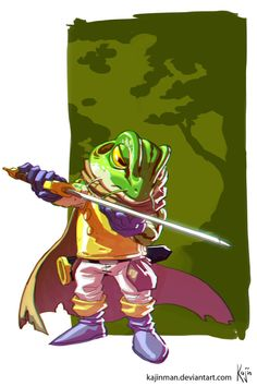 Chrono Trigger Frog Glenn by kajinman on DeviantArt
