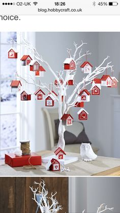 Email from hobbycraft.co.uk White tree make into an Christmas advent calendar