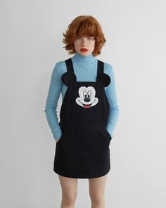 Could make something like this~ Disney x Lazy Oaf Mickey Mouse Pinafore - Disney x Lazy Oaf - Featured - Womens