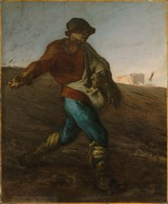 #Cyrus #Cyropaedia Sir Thomas Browne & Jean-François Millet (French, 1814–1875), The Sower, 1850, Oil on canvas, 101.6x82.6cm, Museum of Fine Arts, Boston. The English philosopher Sir Thomas Browne entitled his discourse The Garden of Cyrus (1658) during the Protectorate of Cromwell, describing Cyrus as the splendid and regular planter and as an ideal Ruler. https://en.wikipedia.org/wiki/Cyropaedia