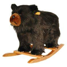 Plush Rocker-Black Bear