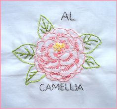 States flower block/Embroidery
