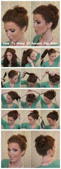 How To Make 10 Second Top Knot