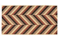 This would make a sweet stair runner. I'm so into mixing black and brown lately. @onekingslane