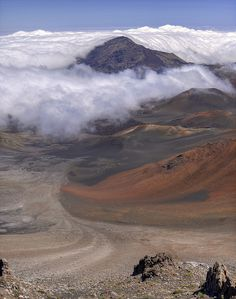 Haleakala National Park, Maui, Hawaii. Arrived there by van to watch the sunrise then biked down the mountain.