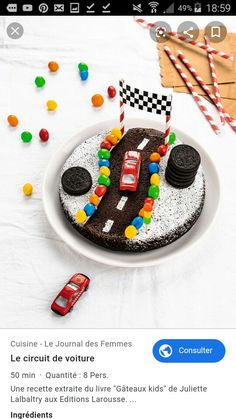 Die Autostrecke – recettes sucrées – – the Best of Everything Sweet Recipes, Cake Recipes, Dessert Recipes, Desserts, Chocolate Covered Peanuts, Drip Cakes, Cakes For Boys, Kids Meals, Cake Decorating
