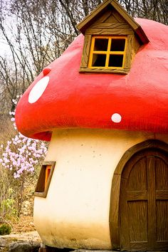 Mushroom House in Heyri Art Valley, located 4 miles south of the demilitarized zone between North and South Korea