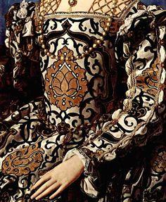 "Detail of ""Portrait of Eleanor of Toledo and Her Son"" 1545.  Agnolo di Cosimo known as Bronzino."