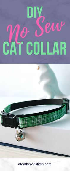 Tired of boring cat collars from the pet store? Or overpriced cat collars from specialty stores? Here is an easy DIY tutorial to make your own customizable cat collar that will suit the personality of your cat. No worries, there is no sewing in this tut Online Pet Supplies, Dog Supplies, Boring Cat, Diy Dog Collar, Kitten Collars, Collor, Cat Crafts, Cat Grooming, Diy Stuffed Animals