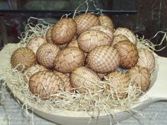 wire decorated eggs from slovakia. I could not duplicate this, but I love it.
