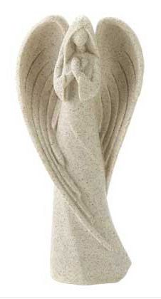 Stylized Angel Sculpture - Off White Stone Finish Angel Statue - Buy Angel…