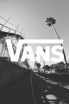 VANS. Brand. Black & White. Illustration. Big Print. Message. Logo. Art. Typography. Solid. Old. Working. Street & Skate. Merchandise. Clothing. Fashion. Gear. Experience. US. Palms. Summer. Light. Warmth. Action. Outdoors. Street Style. Design.