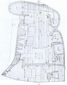 Plan. Chapel at Ronchamp/ Notre Dame du Haut. Ronchamp,France. 1954. Le Corbuser.