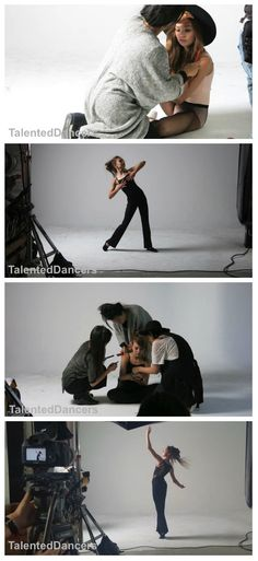 Behind the Scenes of Maddie Ziegler's photoshoot with Capezio! Credit to: @TaletnedDancers
