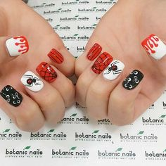 Halloween nail designs are the perfect way to express yourself when the time comes. Besides, all you need is to get a nice idea and we have many! nail designs for fall nail designs for short nails 2019 full nail stickers nail appliques full nail stickers Halloween Nail Designs, Halloween Nail Art, Cute Nail Designs, Spooky Halloween, Halloween Ideas, Toe Nail Color, Nail Colors, Christmas Nail Art, Holiday Nails