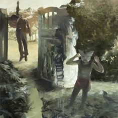 Lars Elling (Norwegian, b. 1966), Oppenheimer's Garden. Oil and egg tempera on canvas, 200 x 200 cm.