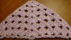 Puntada triangular a crochet. Muestra No. 71