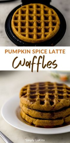 These Pumpkin Spice Latte Waffles are sweet, spicy, and flavorful! The perfect reason to combine pumpkin, pumpkin spice, and coffee into a delicious waffle for breakfast. #homemade #pumpkin #wholewheat #coffee #recipe #fallrecipes