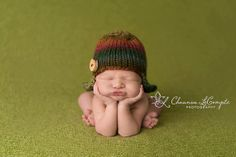 Fall Aviator hat knitted baby hat newborn by Knitzbybeansknots, $27.00