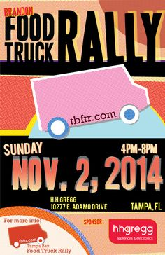 Join us this Sunday, November 2nd at hhgregg in Brandon for our monthly Brandon #foodtruck rally! Joining us will be:  The Revolution Ice Cream Co. Habana To Go, LLC Papa Ron's Cajun Creole' Kitchen Jimmys Slider Truck Who's Your Dumplin? The Rolling Gourmet The Twisted Iron Rollin Zoinks Truck Southern Smoke BBQ Catering