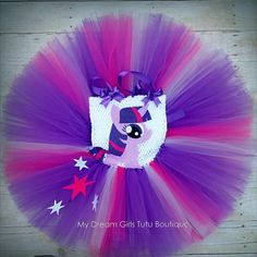 My latest creation: Sparkle some magic at your next birthday party with this Twilight Sparkle inspired tutu dress.