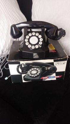 Vintage Soviet bakelite telephone Desktop antique phone VEF BAGTA-50