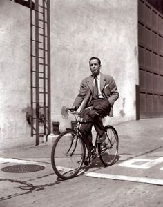 humphrey bogart on a bike