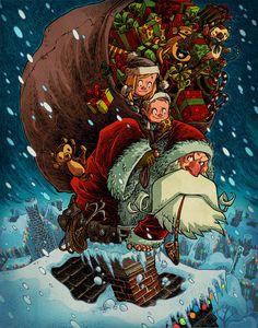 Santa Stowaways by RobbVision.deviantart.com on @deviantART