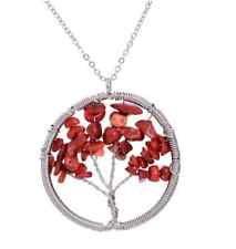 collier arbre de vie couleur en agate