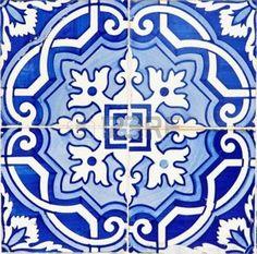 azulejo: Vieux azulejos portugais traditionnels, carrelage de céramique peinte