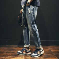 2016 New Men Jeans Men Baggy Jeans Denim Hip Hop Pants Casual Loose Jeans Trousers Japanese Harem Pants Calca Jeans Masculina