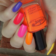 Color Club - Ombre Skittle Neon Nails