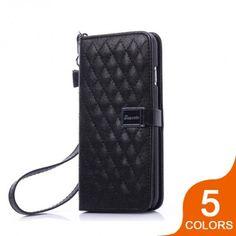 Classic Diamond Lattice Leather Flip Case for iPhone 6: $13.65