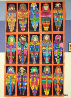 cool coffin paintingwith eye and cross - Google Search #MulticulturalArtsandCrafts