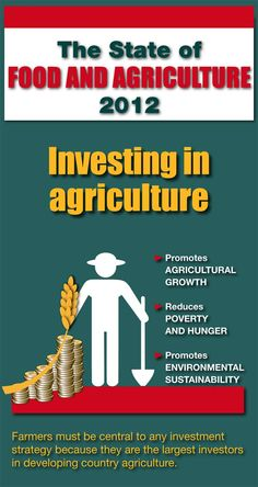 """""""To end hunger and malnutrition, feed the world's growing population, and safeguard our food security and environment, we must invest more in agriculture. But we must also invest better."""""""