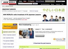 http://www.nhk.or.jp/lesson/english/index.html NHK Japanese lessons