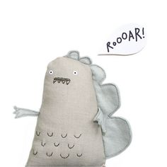 Handmade Toy Dnosaur by The Original Poosac (other awesome things in Flickr too)