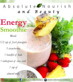 Energy Smoothie The Energy Smoothie is a great way to give yourself a healthy boost of energy, especially in the morning.