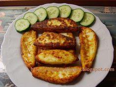 Τα φαγητά της γιαγιάς: Τυρί κατσικίσιο σαγανάκι Greek Recipes, Finger Foods, Zucchini, French Toast, Cheese, Baking, Vegetables, Breakfast, Ethnic Recipes